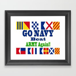 Go Navy, Beat Army in Signal Flags Framed Art Print