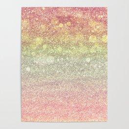 Peach Glitter Sorbet Poster