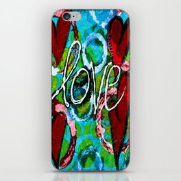 Four Hearts of Love iPhone Skin