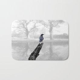 Crow On Misty Pond A114 Bath Mat