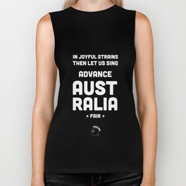 Australia Rugby Union national anthem — Advance Australia Fair Biker Tank