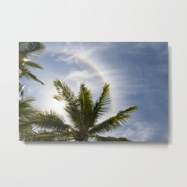 Palm trees on a sunny day Metal Print