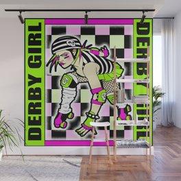 ROLLER DERBY GIRL Wall Mural