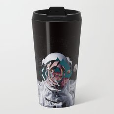 Spaceman oh spaceman, come rescue me (teal) Travel Mug