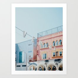 Venice Beach Sign in Los Angeles Art Print