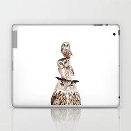 Stacked Owls Laptop & iPad Skin