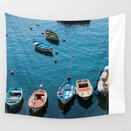 Docked Boats Wall Tapestry