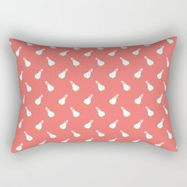 Teagull Pattern Red Rectangular Pillow