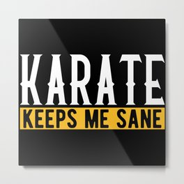 Karate Martial Arts Lovers Gift Idea Motif Metal Print