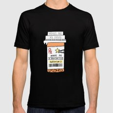 Movies are my drug Mens Fitted Tee Black SMALL