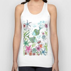 2 fishes Unisex Tank Top