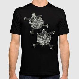 turtle party surf blue T-shirt