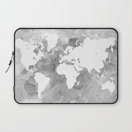 Design 49 Grayscale World Map Laptop Sleeve
