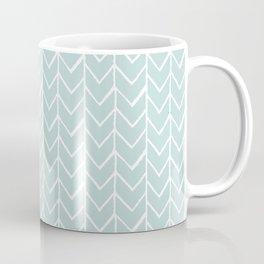 Herringbone Mint Coffee Mug