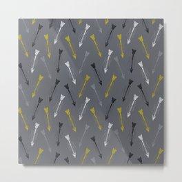 Lone Arrow Grey Metal Print