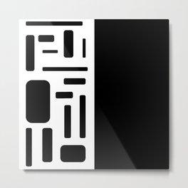 Half black geometric design Metal Print