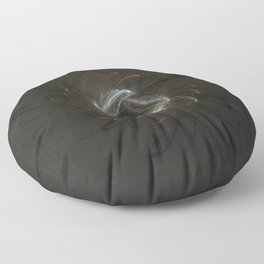 Metallic Swirl Fractal Floor Pillow