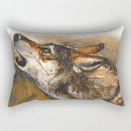 Arabian Wolf Realistic Rectangular Pillow