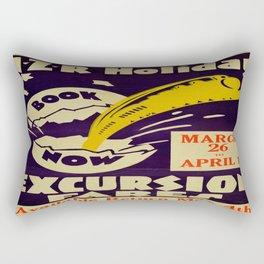 Vintage poster -  New Zealand Rectangular Pillow