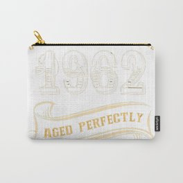 55th-Birthday-Gift-Gold-Vintage-1962-Aged-Perfectly Carry-All Pouch