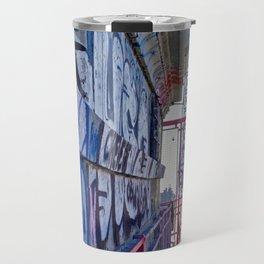 Williamsburg Bridge traffic Travel Mug