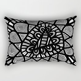 Black and White Doodle 7 Rectangular Pillow