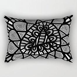 Black and White Doodle 7 Rectangular Pillow