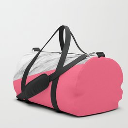 Marble and Pink Color Duffle Bag