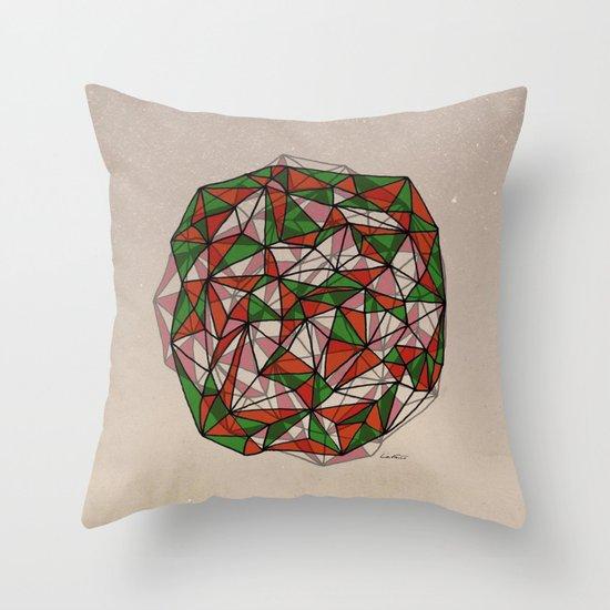 - red orange green - Throw Pillow