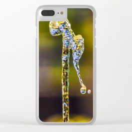 Water Art Move by @balazsromsics Clear iPhone Case