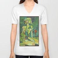 metropolis V-neck T-shirts featuring Metropolis by ArtistsWorks