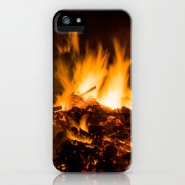 Fire flames iPhone Case
