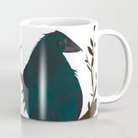crow Mugs featuring crow by voskovski