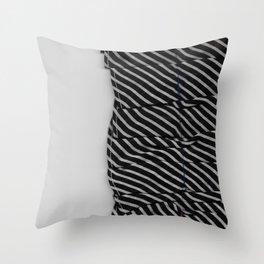 Stiped Ruffle Throw Pillow