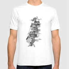 Treehouse Mens Fitted Tee White SMALL