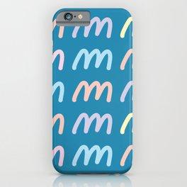 Script Letter M Pattern iPhone Case