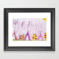 going outside by pascal Framed Art Print