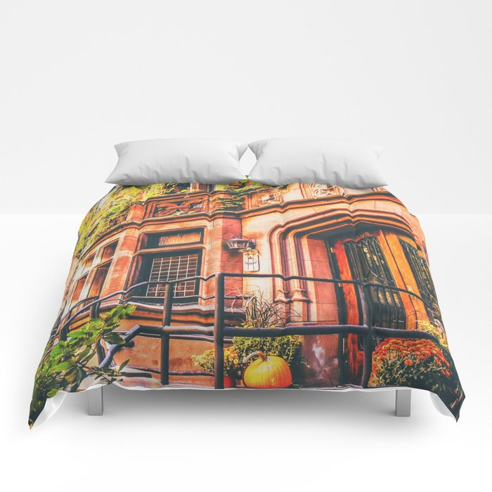New York City Autumn Pumpkin Comforters