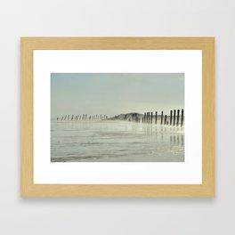 Spurn Point Groynes Framed Art Print