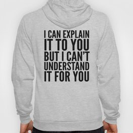 I Can Explain it to You, But I Can't Understand it for You Hoody