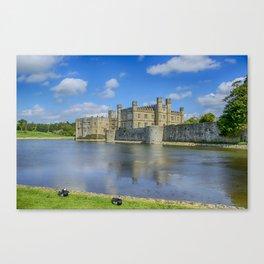 Leeds Castle Moat 2 Canvas Print