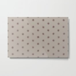 Deep Purple Taupe Gray Splatter Polka Dot Pattern 2021 Color of the Year Epoch and Fondue Metal Print