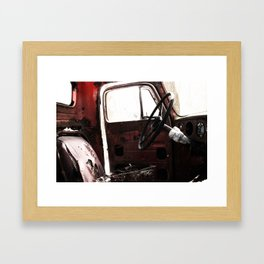 The Seat Was Comforting, but not comfy. Framed Art Print