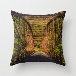 The Old Iron Bridge Throw Pillow