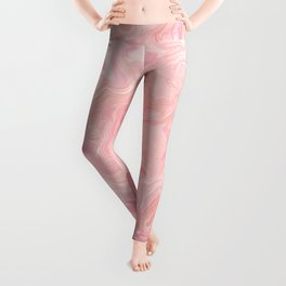 Blush pink abstract watercolor marble pattern Leggings