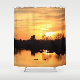 Floodplain at Sunset 3 Shower Curtain