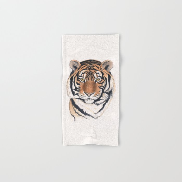 Tiger portrait watercolor Hand & Bath Towel