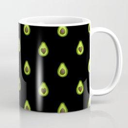 Avocado Hearts (black background) Coffee Mug