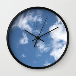 Song Birds Fighting off a Red Tailed Hawk Wall Clock