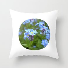forget-me-not flowers II Throw Pillow